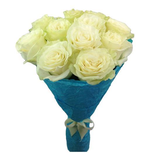 Розы белые в бирюзовом