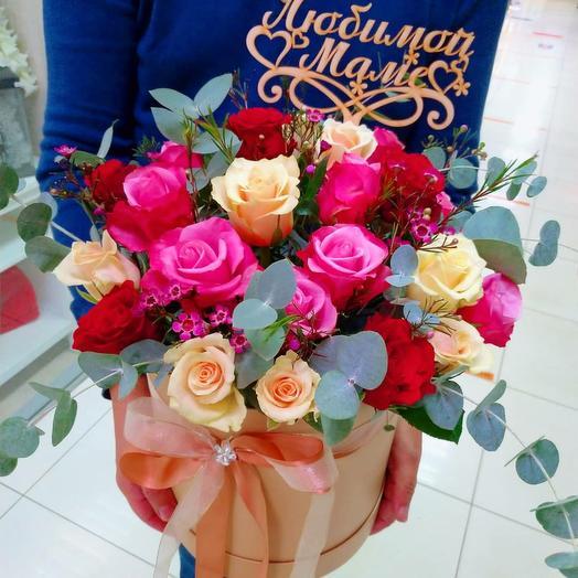 Коробка роз для Мамы