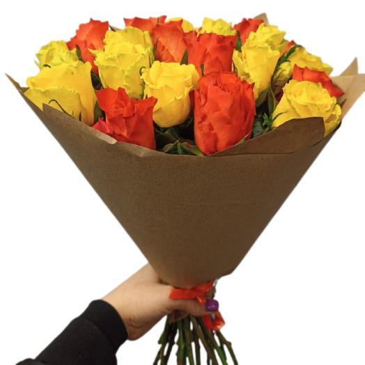 Букет из 21 кенийских роз микс