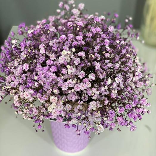 Фиолетовая Цветочная вата
