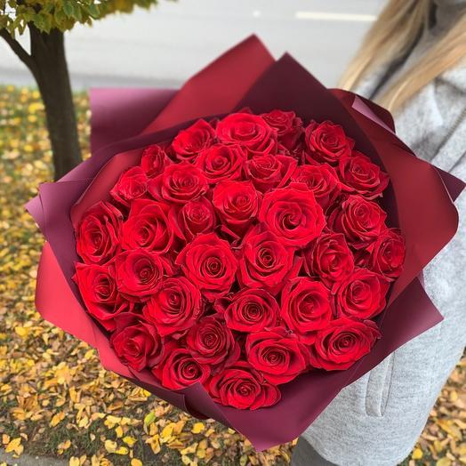 39 красных роз 60 см