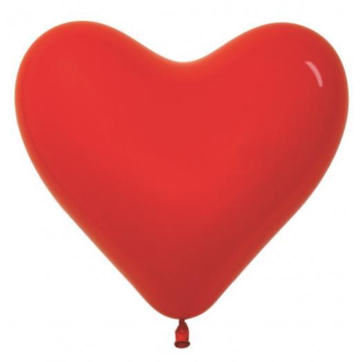 "Шар сердце красный размер 16"""