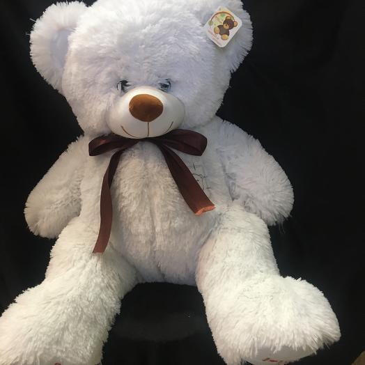Плюшевый белый медведь топтыжка 70