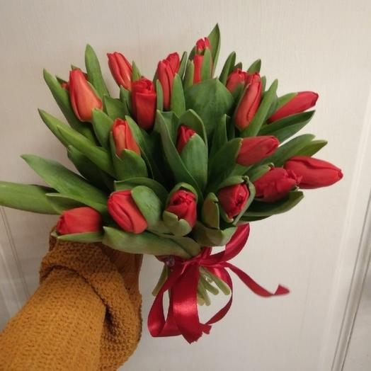 """Моно букет """"Красные тюльпаны"""""""