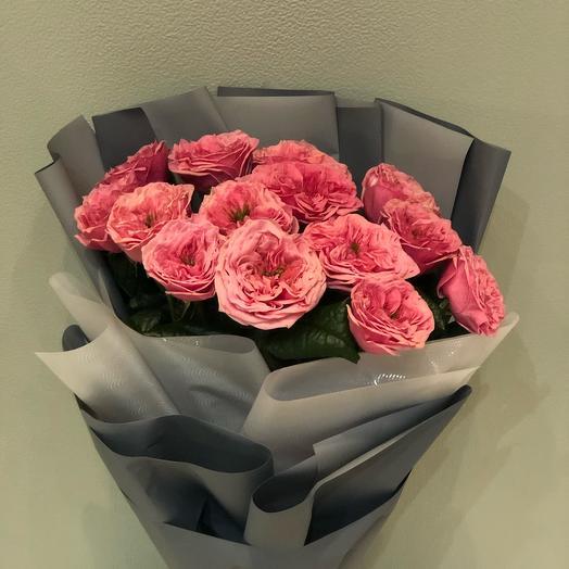 Букет из 15 садовых роз Редженс парк