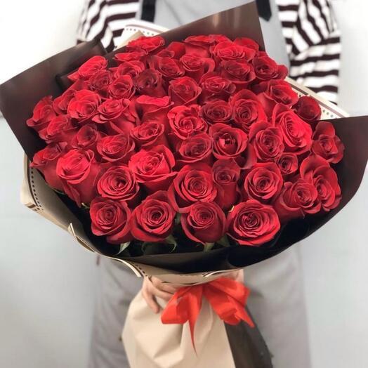 51 красная розы