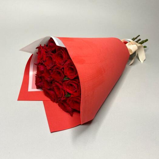Букет  с розами Ред Наоми 15 шт. (50 см.)