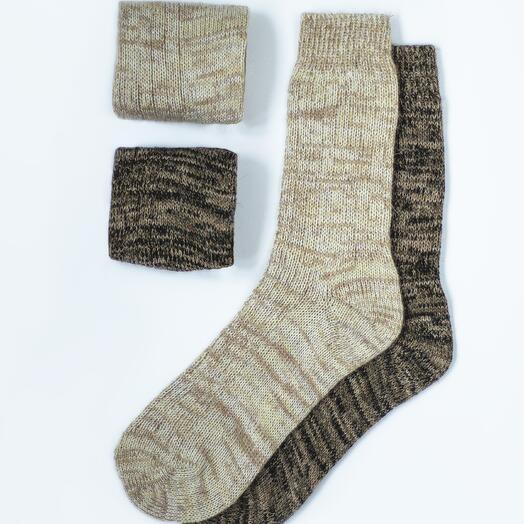 Набор из двух пар шерстяных носков «Песочный»