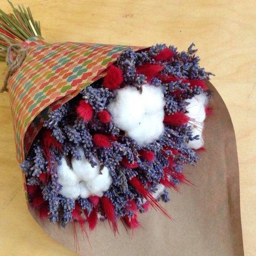 Букет из лаванды хлопка колосков: букеты цветов на заказ Flowwow