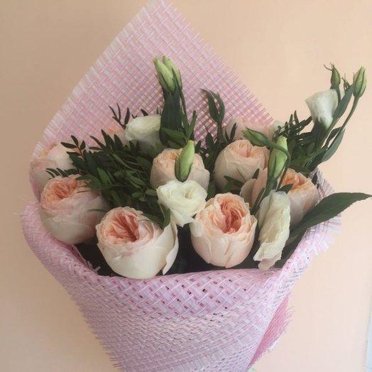 Очаровательный букет из пионовидных роз Кокетка ! : букеты цветов на заказ Flowwow