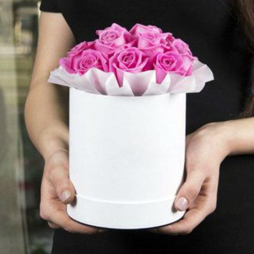 Шляпная коробочка маленькая с розами