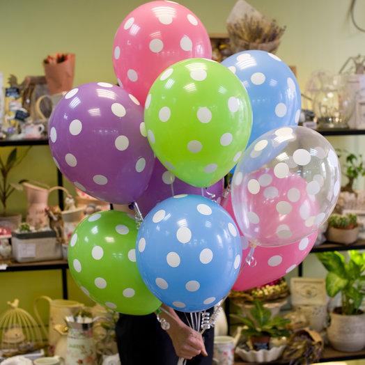 Воздушные шарики в горошек (9)
