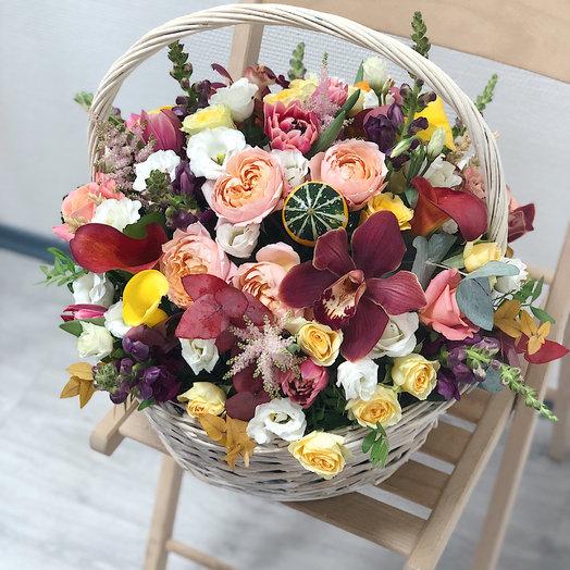 Корзина осенняя: букеты цветов на заказ Flowwow
