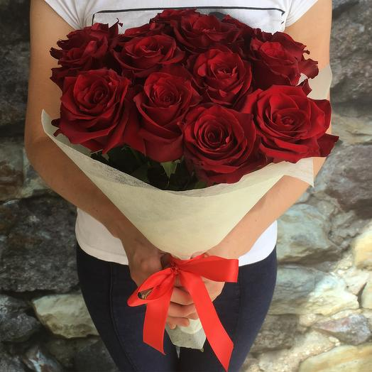 Букет из 15 красных роз Explorer: букеты цветов на заказ Flowwow