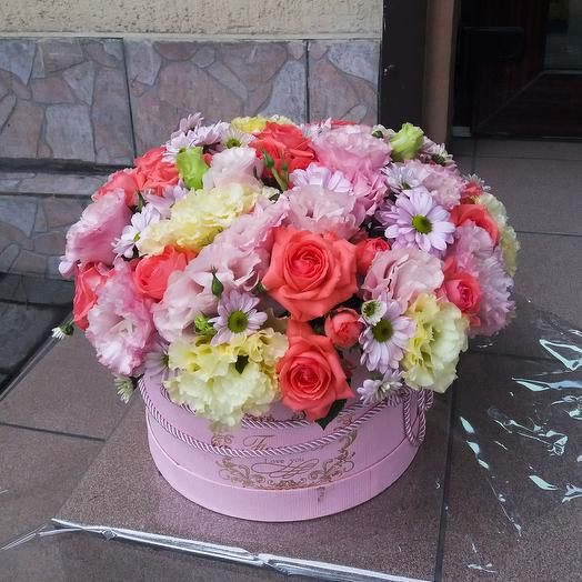 Коробка микс цветов
