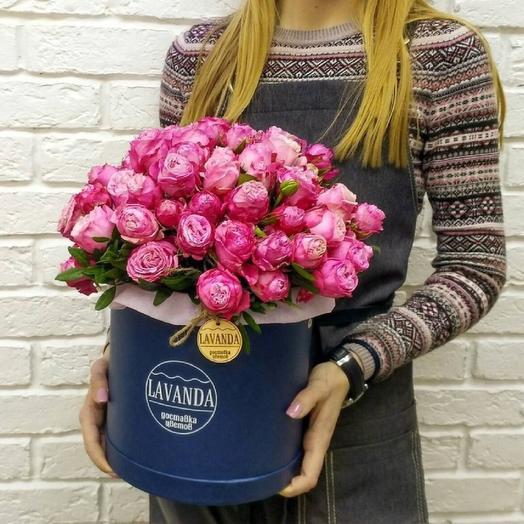 """Шляпная коробка """"Бомбастик"""": букеты цветов на заказ Flowwow"""