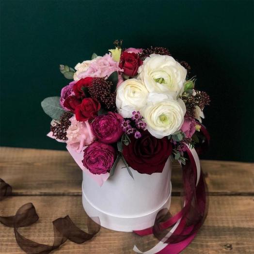 Цветы в коробке S (14 см), 5002: букеты цветов на заказ Flowwow