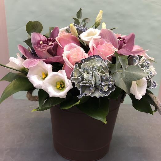 Ведёрко «8 Марта»: букеты цветов на заказ Flowwow