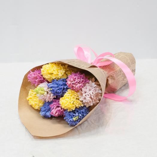 """Букет из гиацинтов """"Разноцветные гиацинты"""": букеты цветов на заказ Flowwow"""