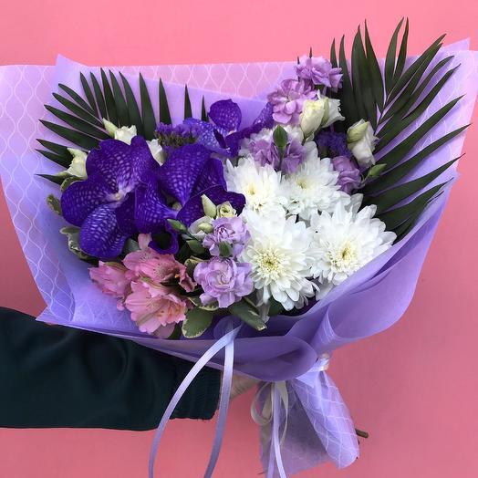 Букет из синей орхидеи: букеты цветов на заказ Flowwow