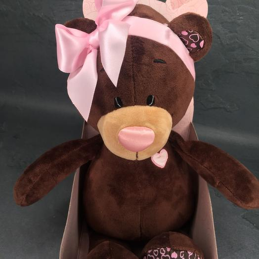 """Soft toy """"Bear with beads"""""""