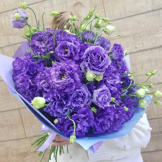 Шикарный махровый лизиантус по супер цене: букеты цветов на заказ Flowwow