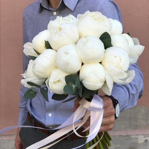 "Свадебный букет ""Белый ангел"": букеты цветов на заказ Flowwow"