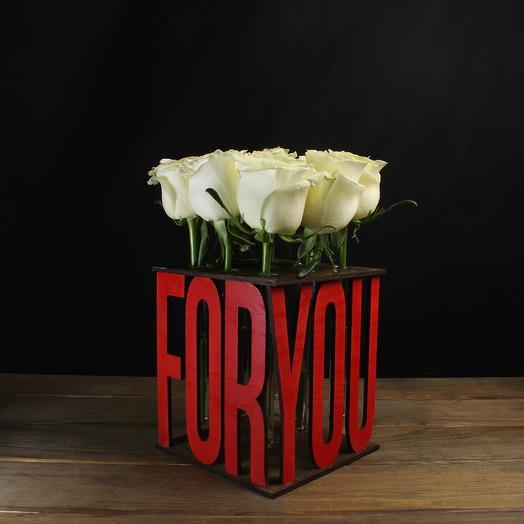 """Композиция """"For you"""" из 9 роз: букеты цветов на заказ Flowwow"""