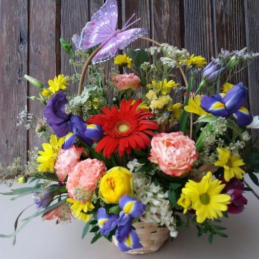 """Цветочная корзинка """"Летний полдень"""": букеты цветов на заказ Flowwow"""