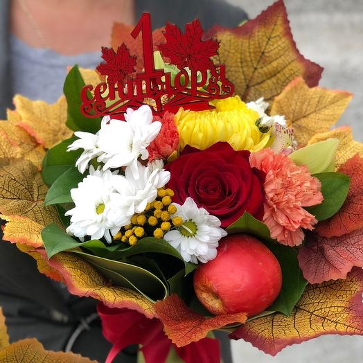 Фруктовый букет «к школе»: букеты цветов на заказ Flowwow