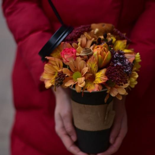 Кофе брейк: букеты цветов на заказ Flowwow