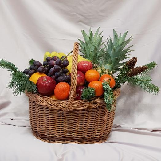 Корзина с фруктовым миксом