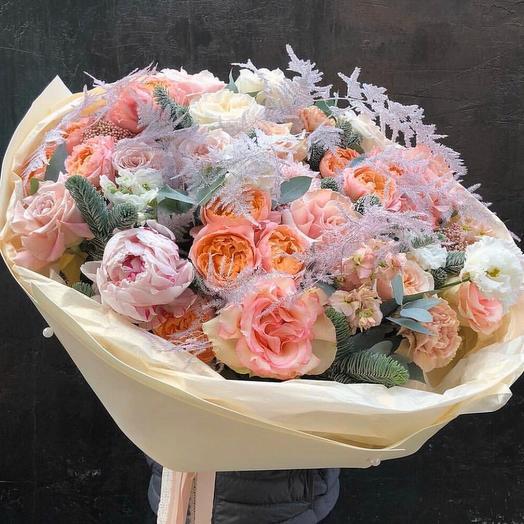 """Большой букет цветов """"Нежный шелест"""""""