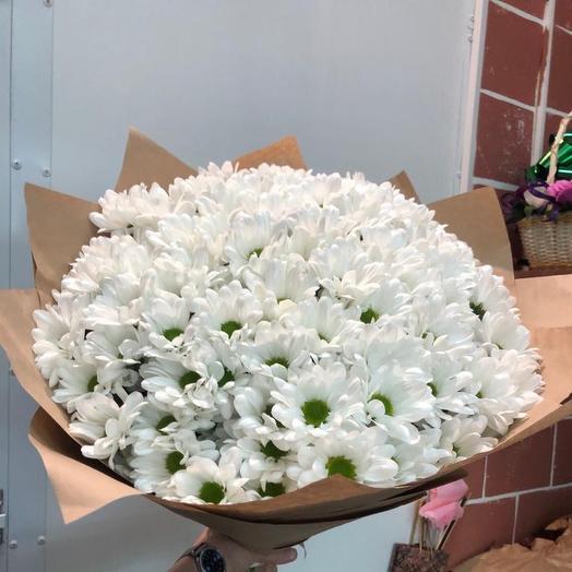 Букет из хризантемы кустовой ромашковой: букеты цветов на заказ Flowwow