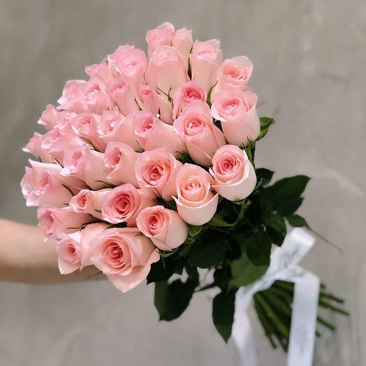 """35 роз """"Pink Kenya"""": букеты цветов на заказ Flowwow"""