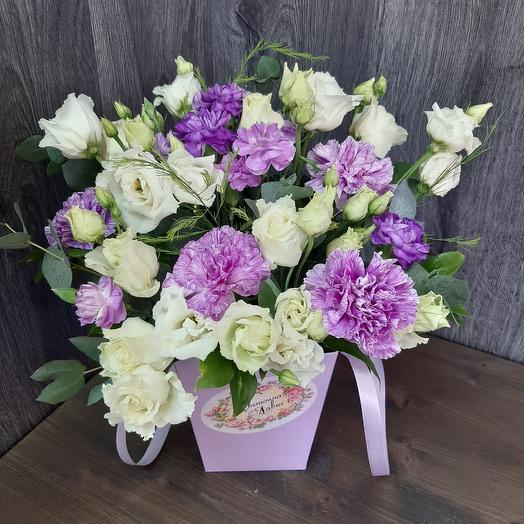 Playm package from moonlight carnations and eustoma