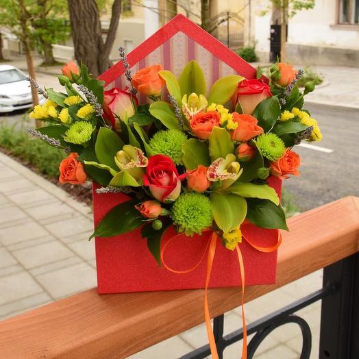 Яркое цветочное послание