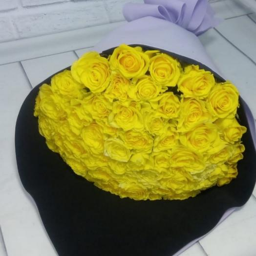 Желтые розы в фоамиране