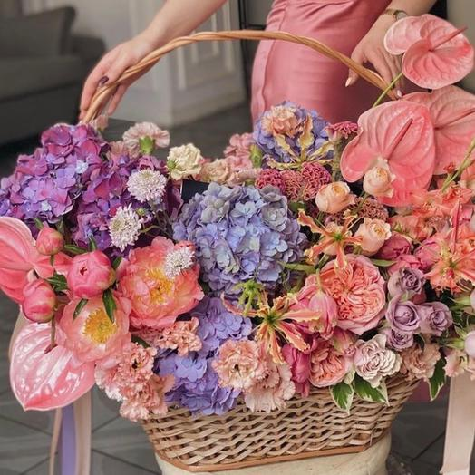 Корзина цветов Luxury Flowers XL Цветочная феерия