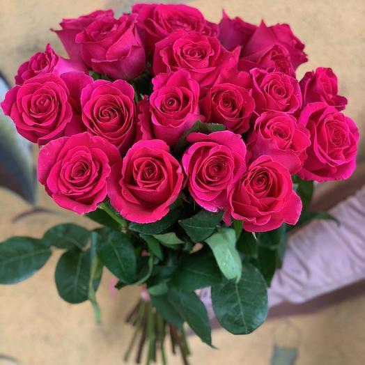 25 роз розовых Эквадор 60 см