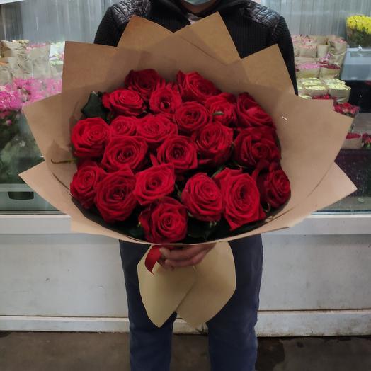 Роза красная 60 см 21шт