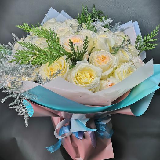 Монобукет из пионовидные роз   Нирвана
