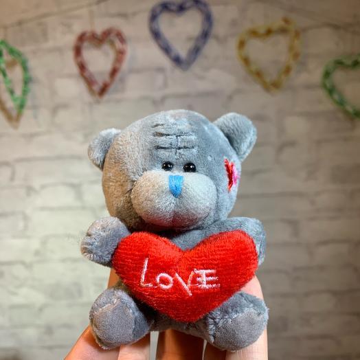 Мишка с сердечком, 9x7см