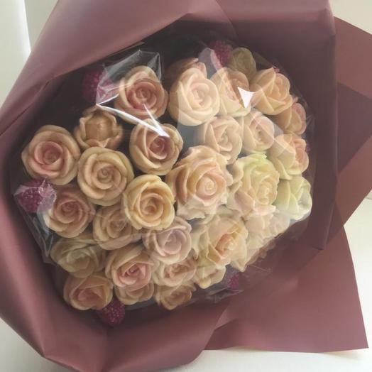 Шоколадные розы 37 шт