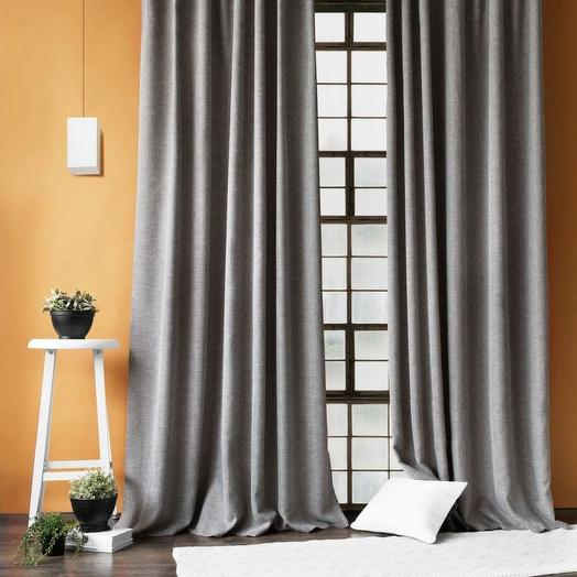 Комплект штор с подхватами Бадди Темно-серый, 140х270 см - 2 шт