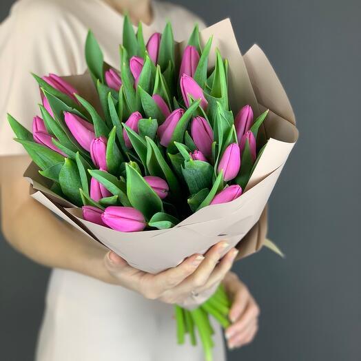Розовые тюльпаны 🌷