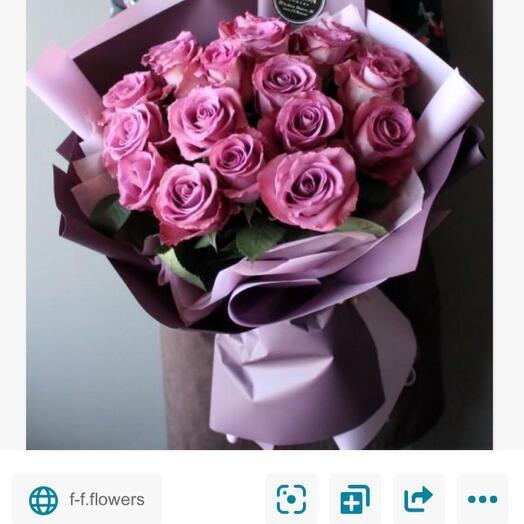 19 сиреневых роз Кения