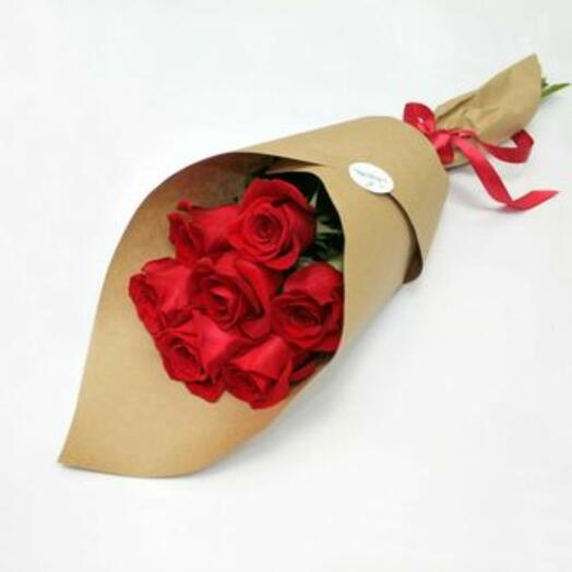 7 red roses in crafting