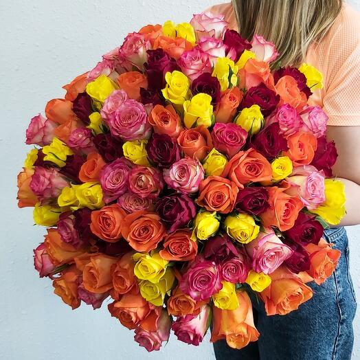 101 Роза 4 цвета