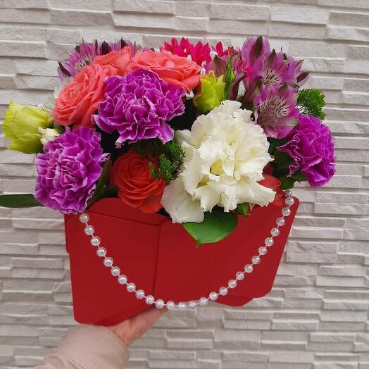 Сумочка Бант с цветами